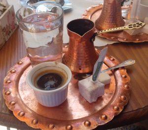 Sarajevo,Baščaršija,bosenská káva