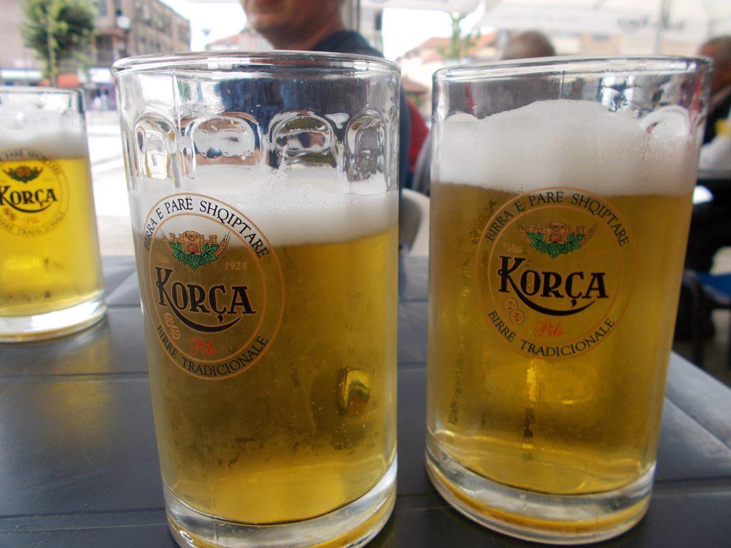 Korcë,místní pivo