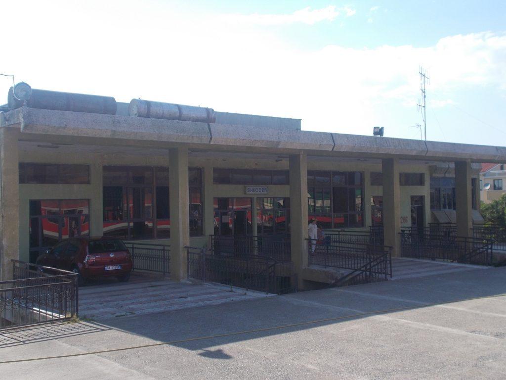 Shkodër,budova nádraží