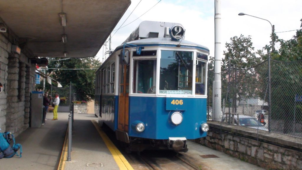 Villa Opicina,historická tramvaj
