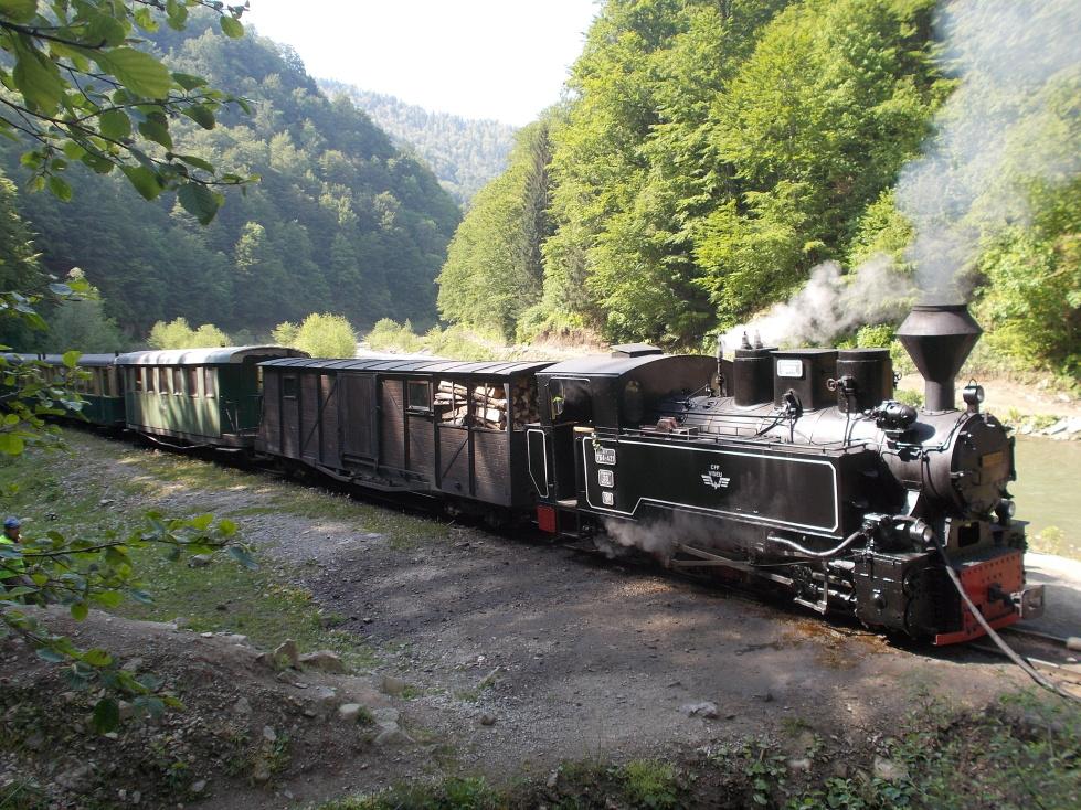 Mocanita,doplnění lokomotivy vodou