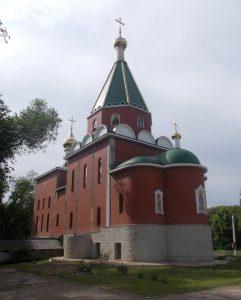 Tiraspol,Kirov park,nový pravoslavný kostel