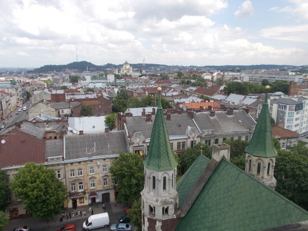Lvov,výhled na město z kostela Sv.Olgy a Alžběty