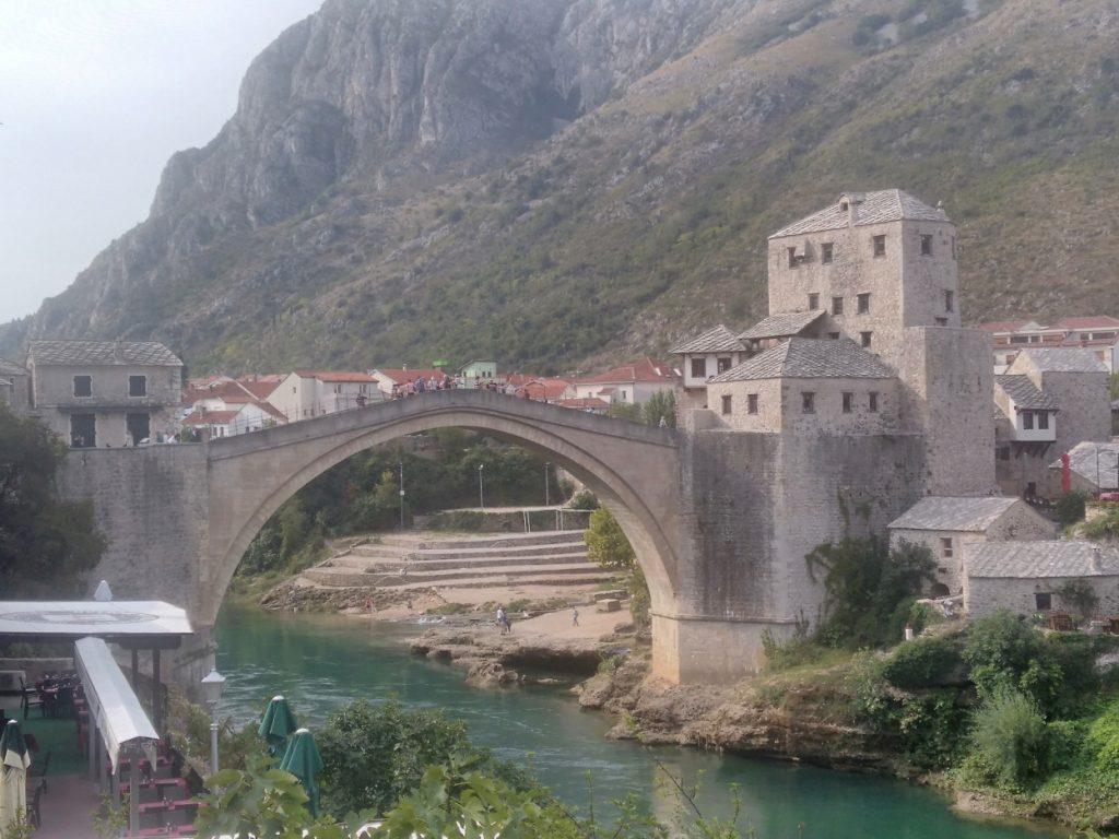Mostar,Stari most(ze severní strany)