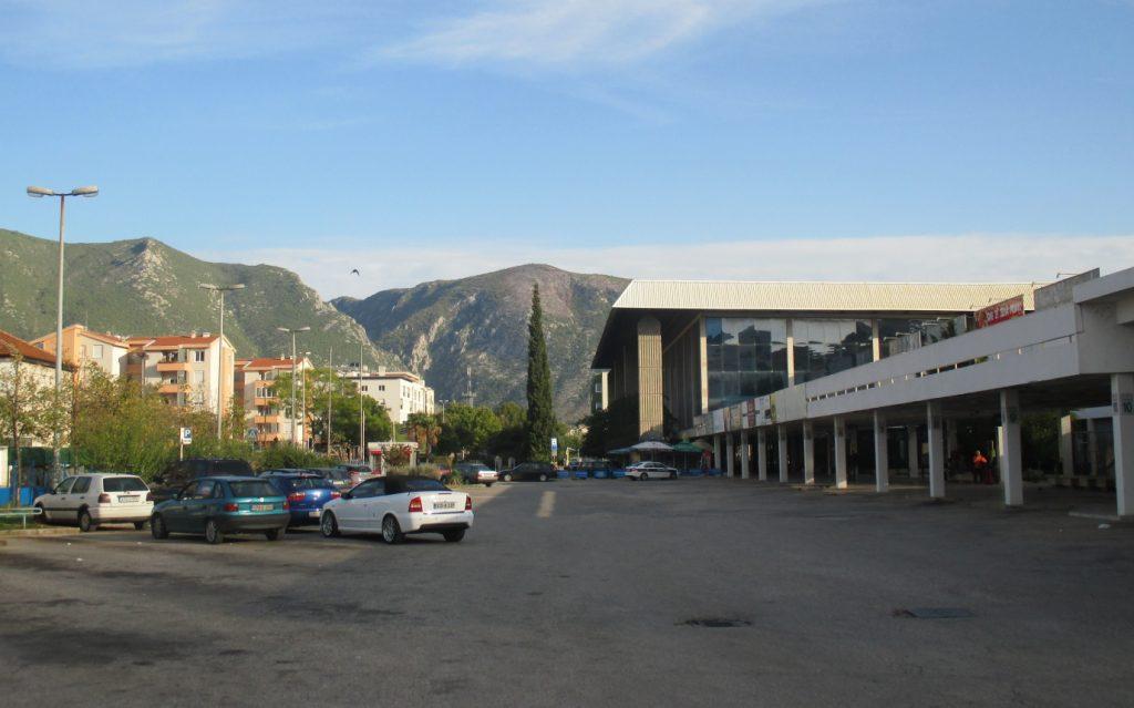 MOSTAR,autobusové a vlakové nádraží