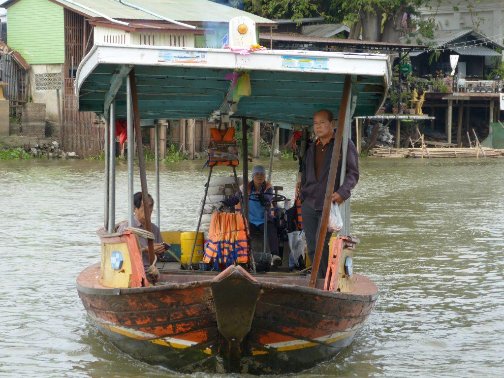 Ayutthaya,loďka přívozu