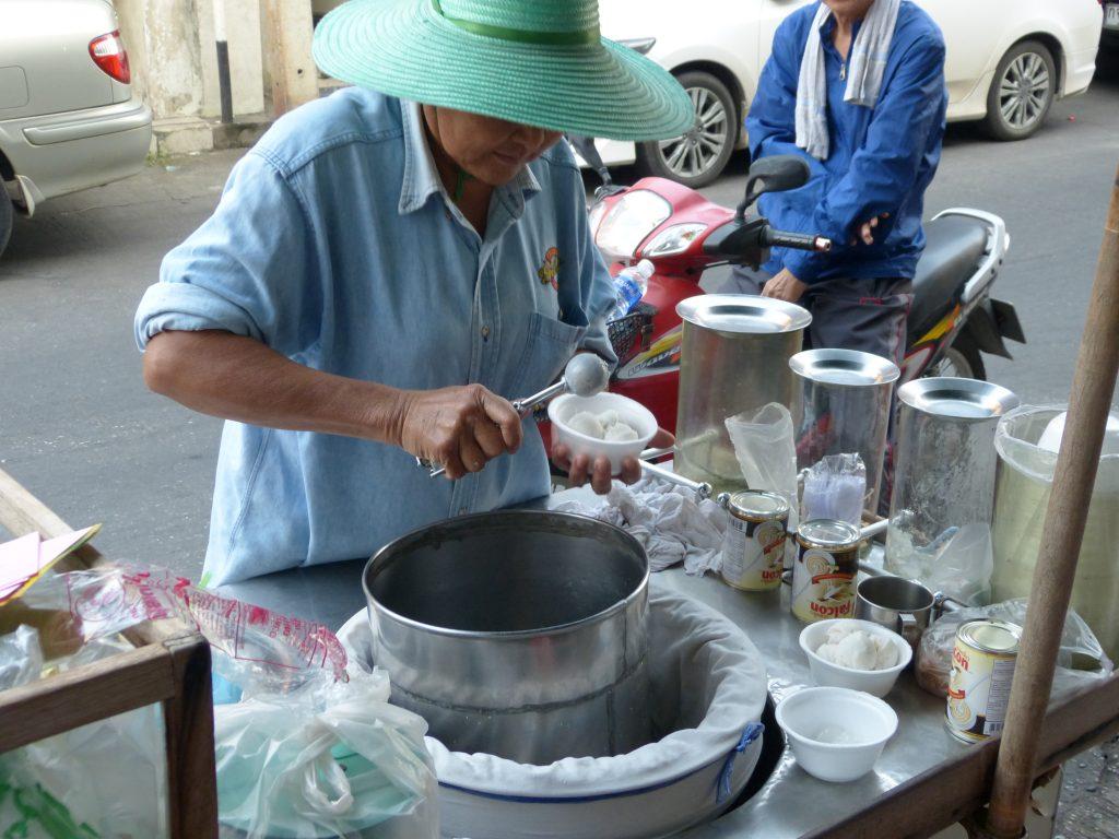 Kanchanaburi,kokosová zmrzlina