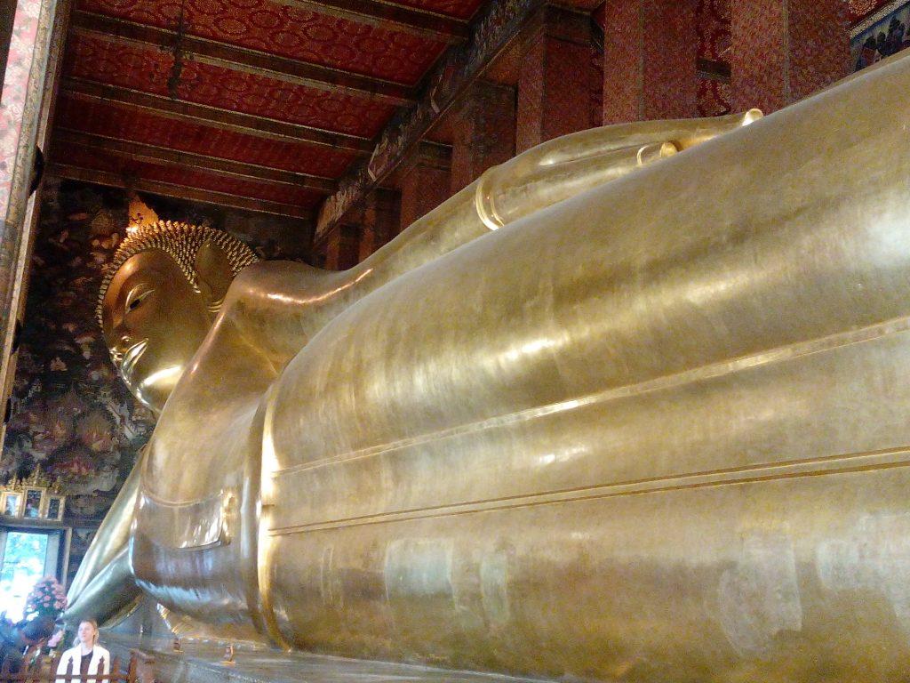 Bangkok,chrám Wat Pho,ležící Buddha