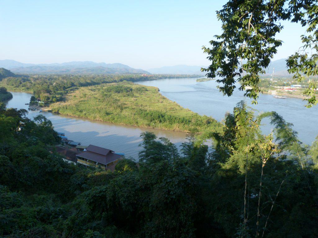 Chiang Saen,soutok řek Ruak a Mekong