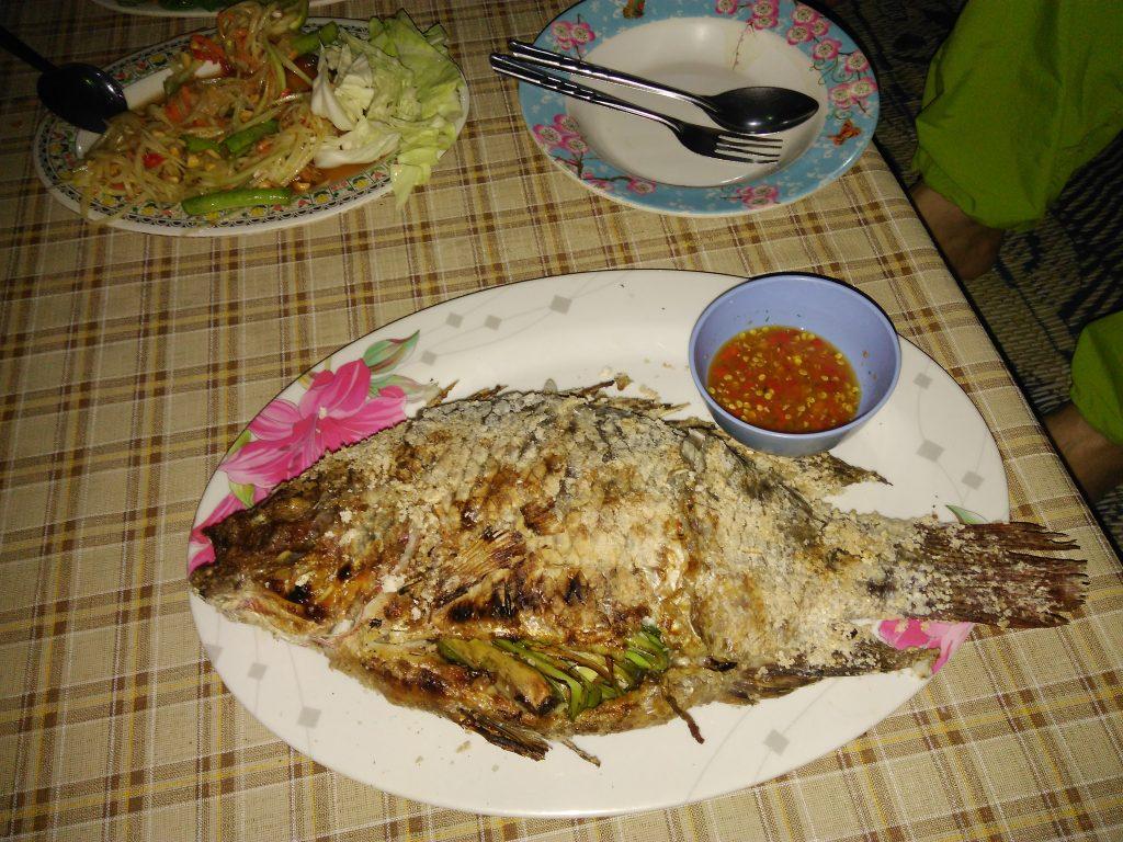 Chiang Saen,večeře na břehu Mekongu