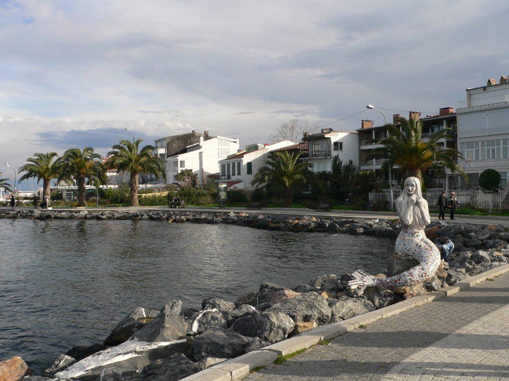 ostrov Büyükada,mořská víla Ariel
