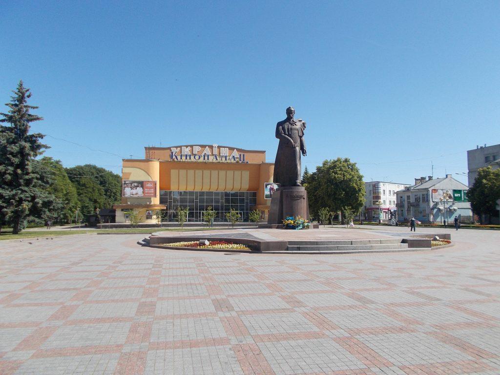 Rovno,pomník Tarase Ševčenka