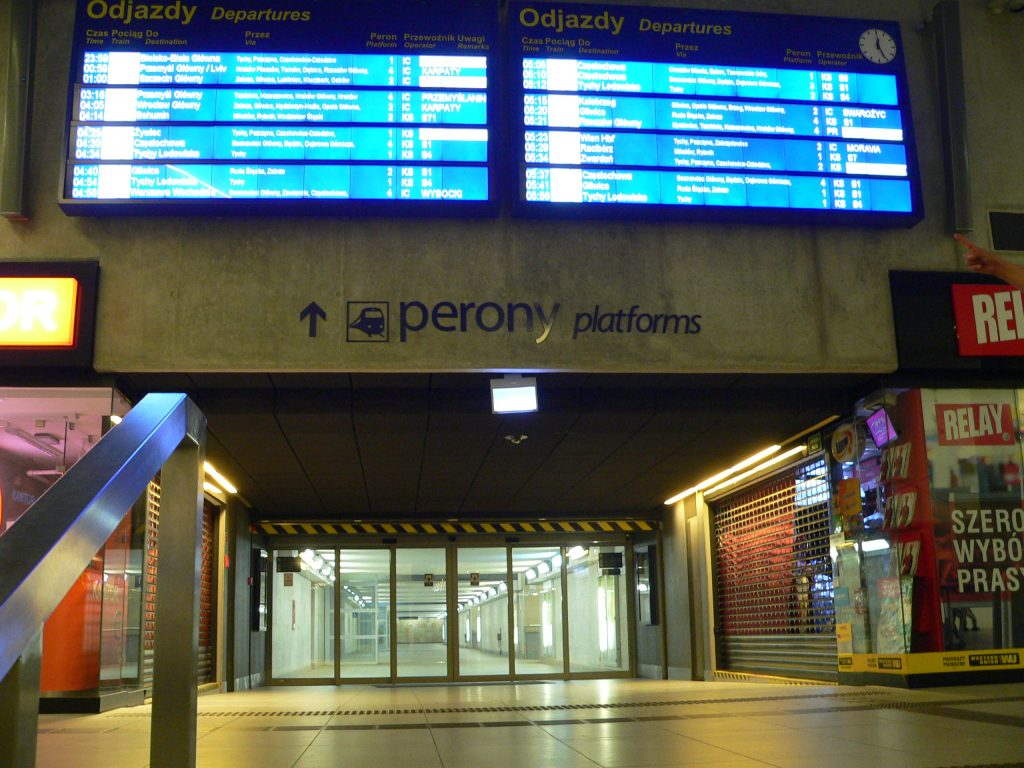 Katovice,vestibul nádraží