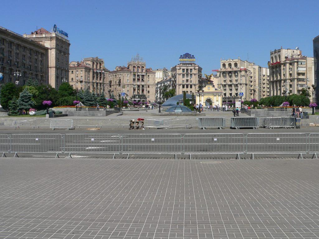 Kyjev,Náměstí Nezávislosti-Majdan