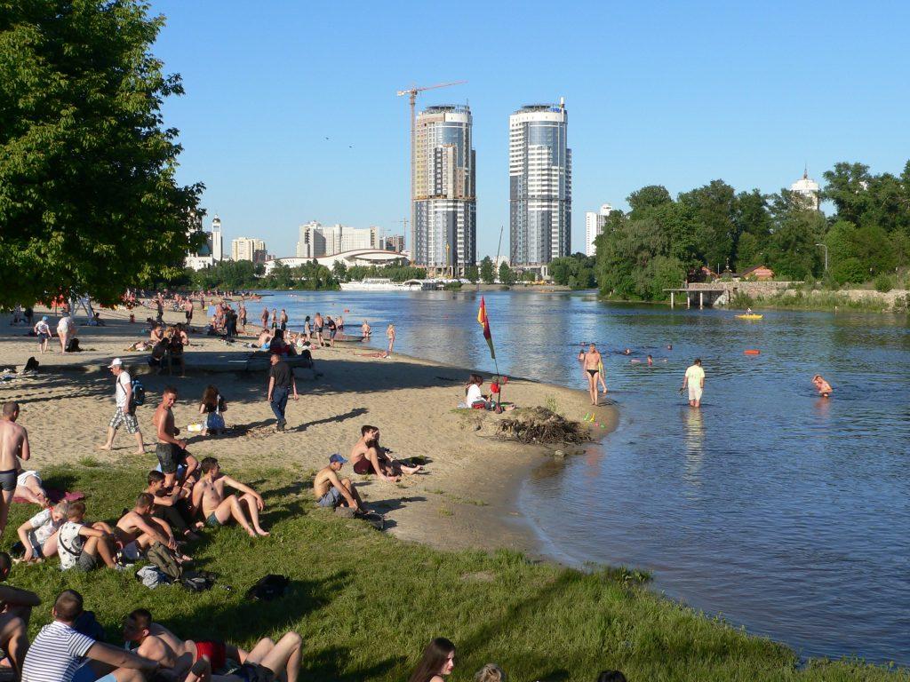 """Kyjev,Hidropark,městská pláž """"Benátky"""""""