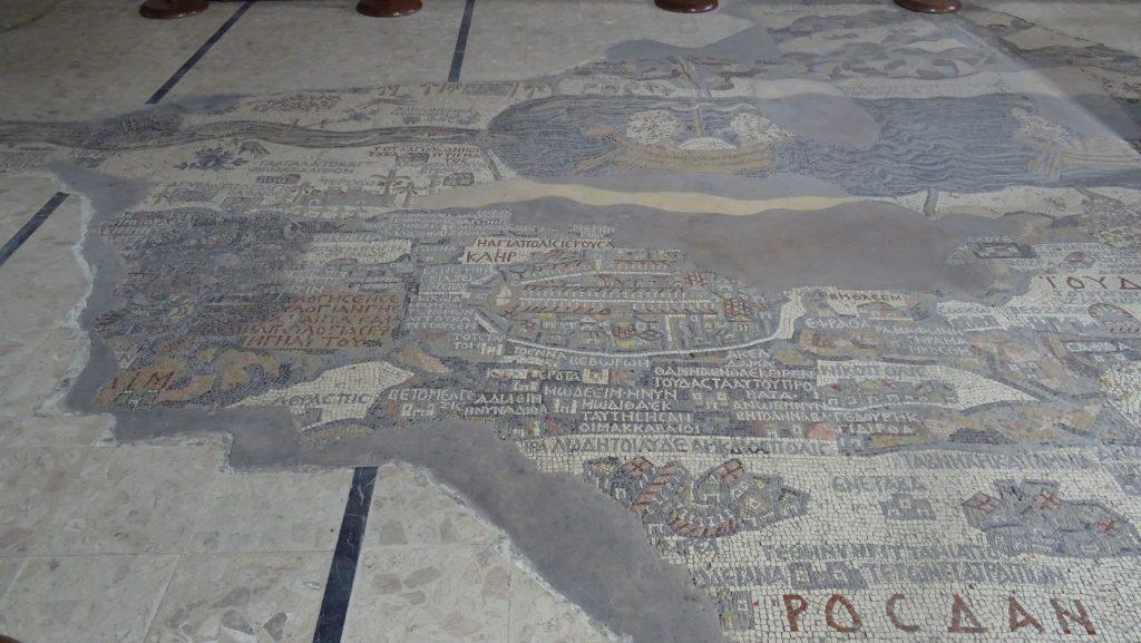 """Madaba,kostel sv.Jiří,""""Madabská mapa"""""""