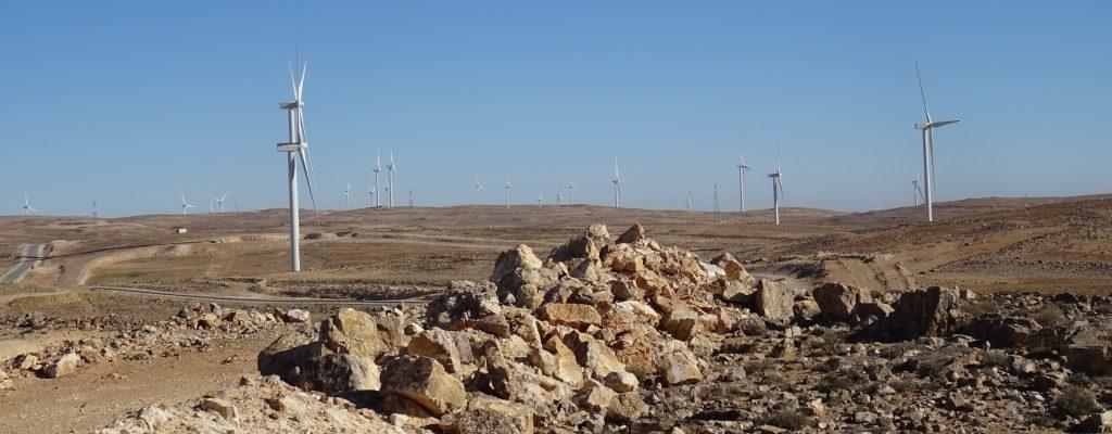 Dlagha,větrné elektrárny