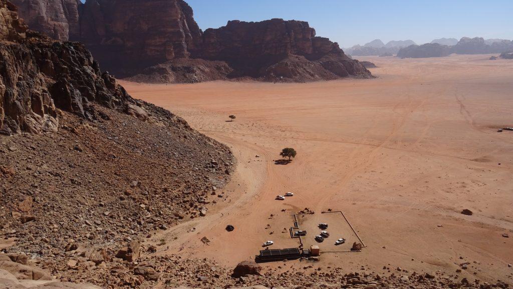 Wadi Rum,výhled od Lawrences Spring