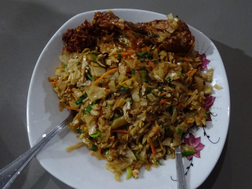 Dambulla,večeře (Kottu roti chicken)