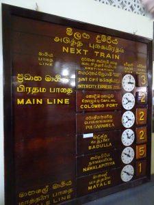 Kandy,nádraží,infotabule