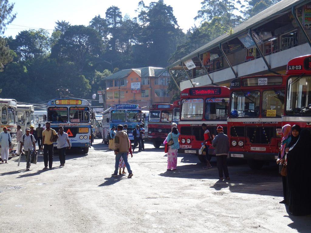 Nuwara Eliya,autobusové nádraží
