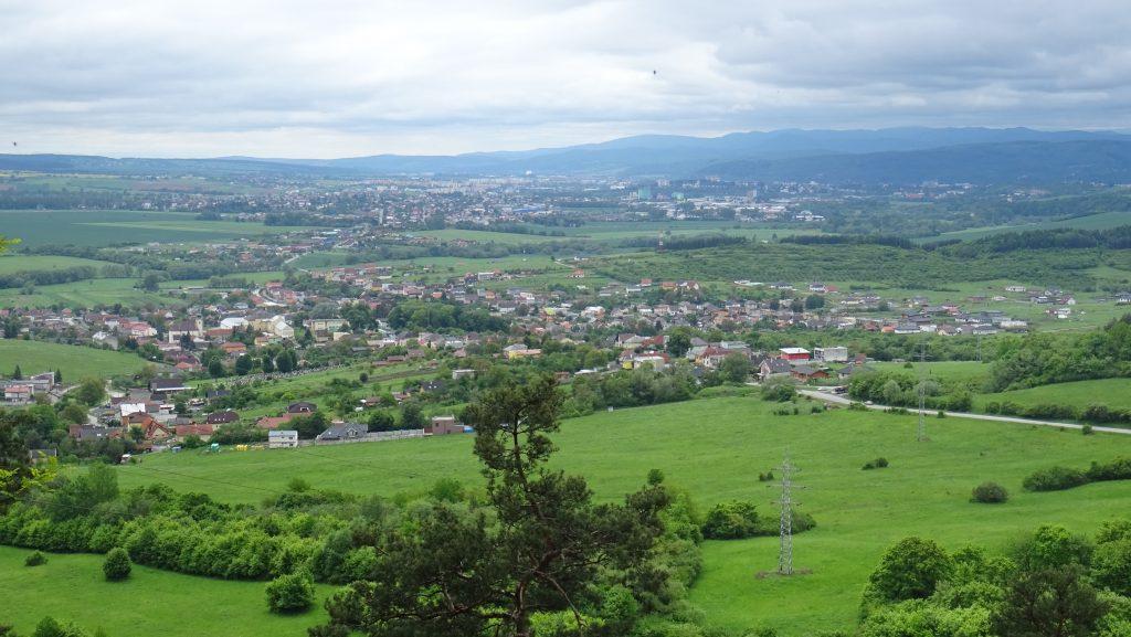 výhled z Fintických svahů na Fintice a Prešov