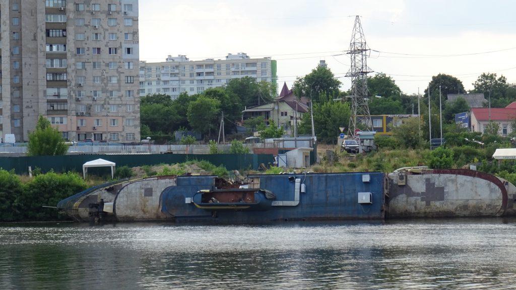 Vyžhorod,vrak lodi