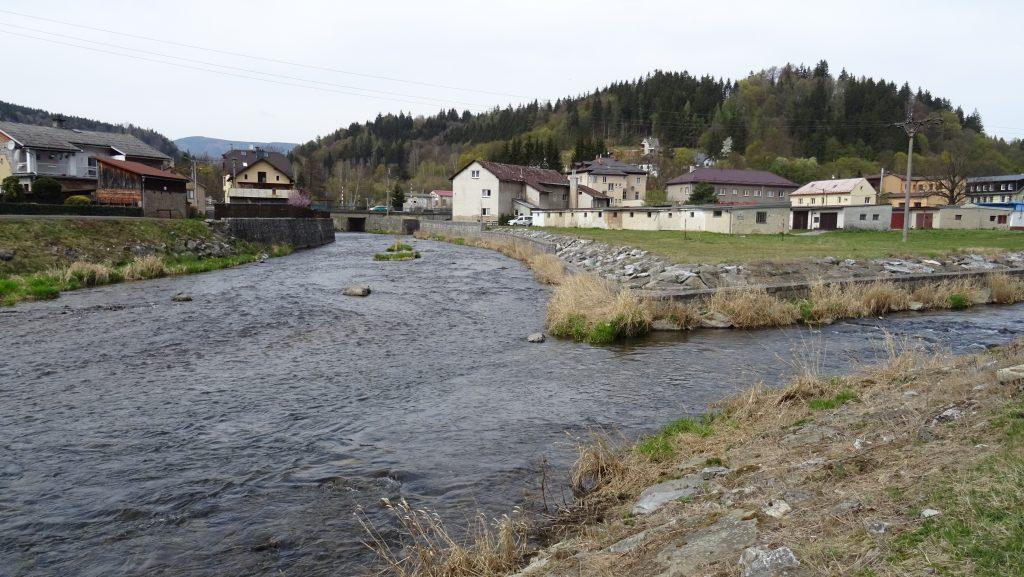 Hanušovice,soutok Moravy a Branné