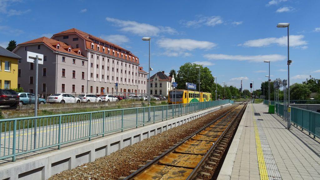 Litoměřice horní nádraží,vlak do Úštěku