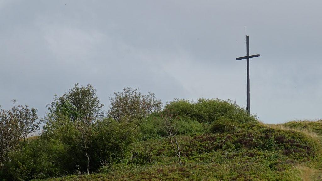 Minčol,vyhlídka s křížem