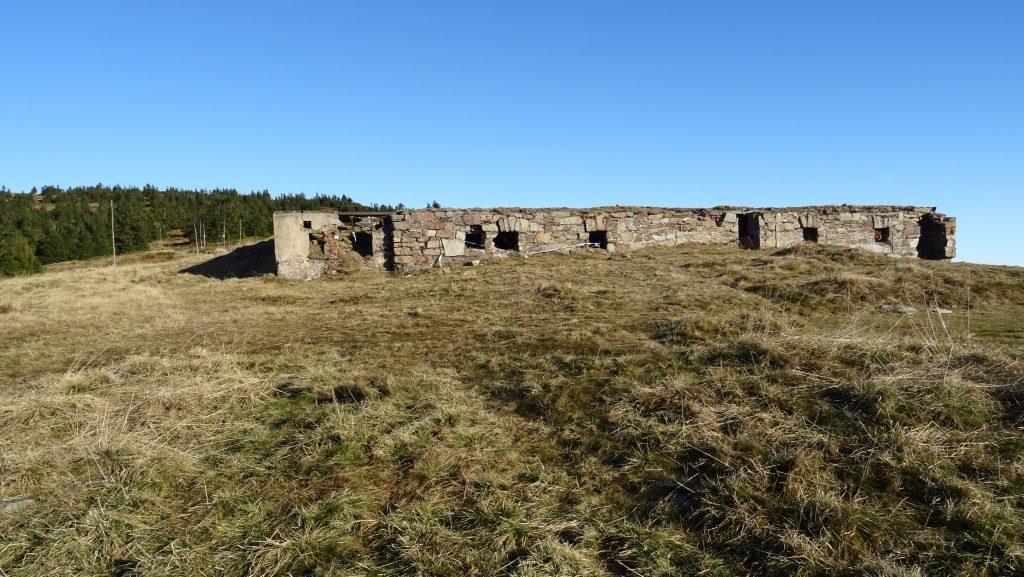 Králický Sněžník,ruiny Lichtenštejnovy chaty