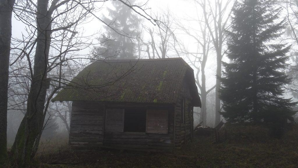 bouda nad Stříbrnicemi (u modré značky)